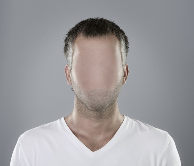 Real social media icon, faceless person portrait