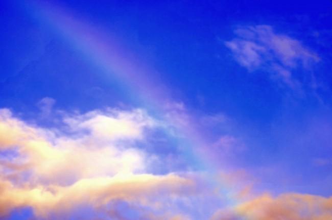 Rainbow On Summer Sky Desktop Background