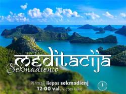 SEKMADIENIO MEDITACIJA. 2017-7-2 12:00