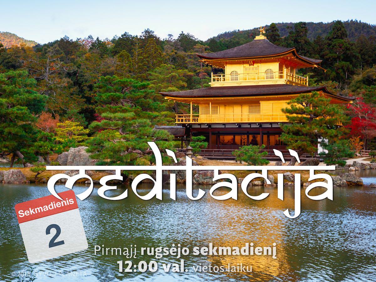 Sekmadienio MEDITACIJA 2018-09-02