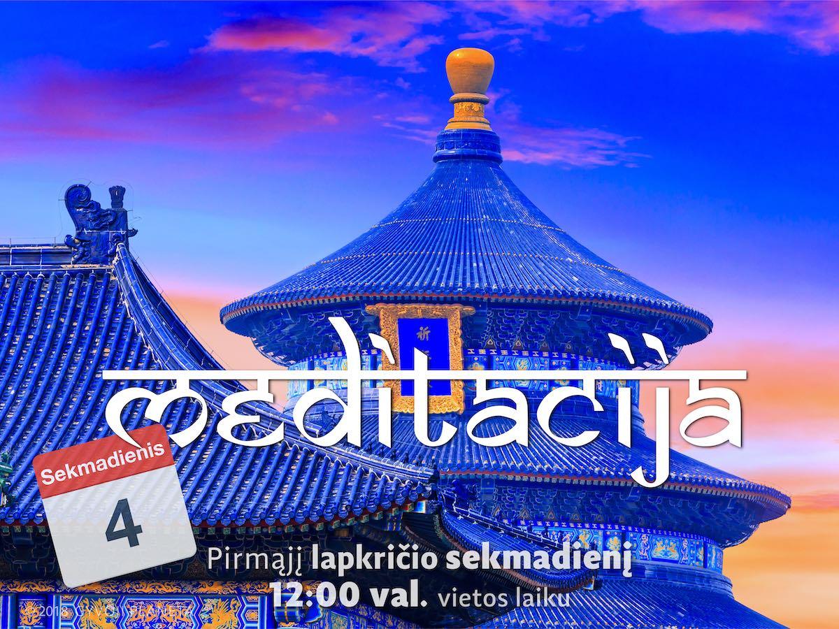 Sekmadienio MEDITACIJA 2018-11-4