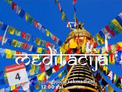 Sekmadienio MEDITACIJA 2019-8-4