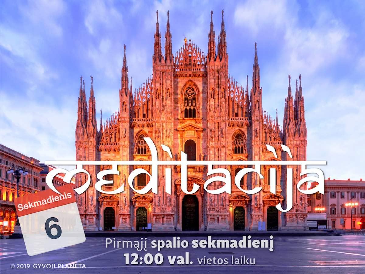 Sekmadienio MEDITACIJA 2019-10-6