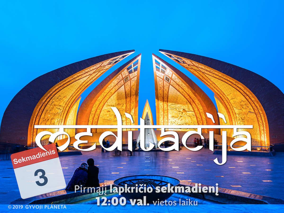 Sekmadienio MEDITACIJA 2019-11-3