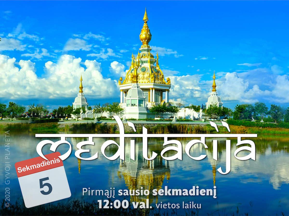 Sekmadienio MEDITACIJA 2020-1-5