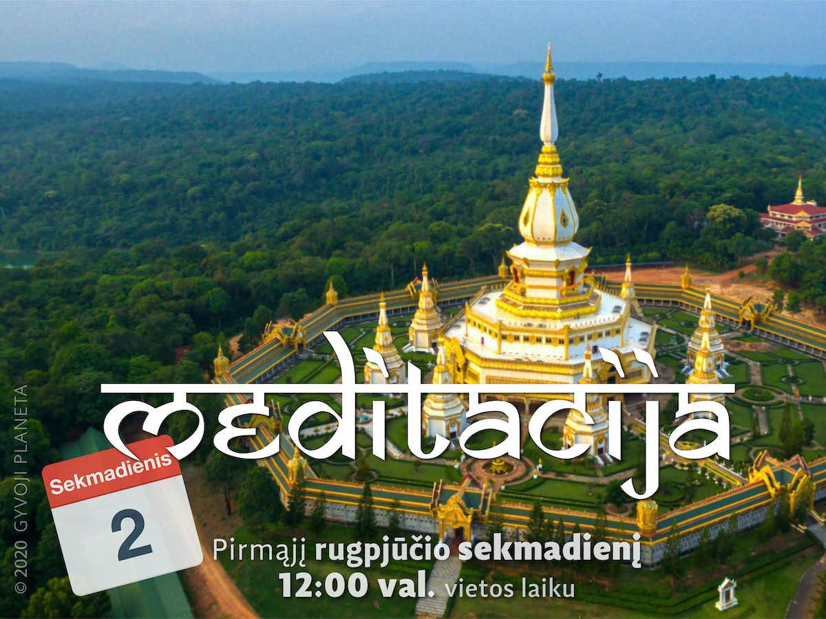 Sekmadienio MEDITACIJA 2020-8-2