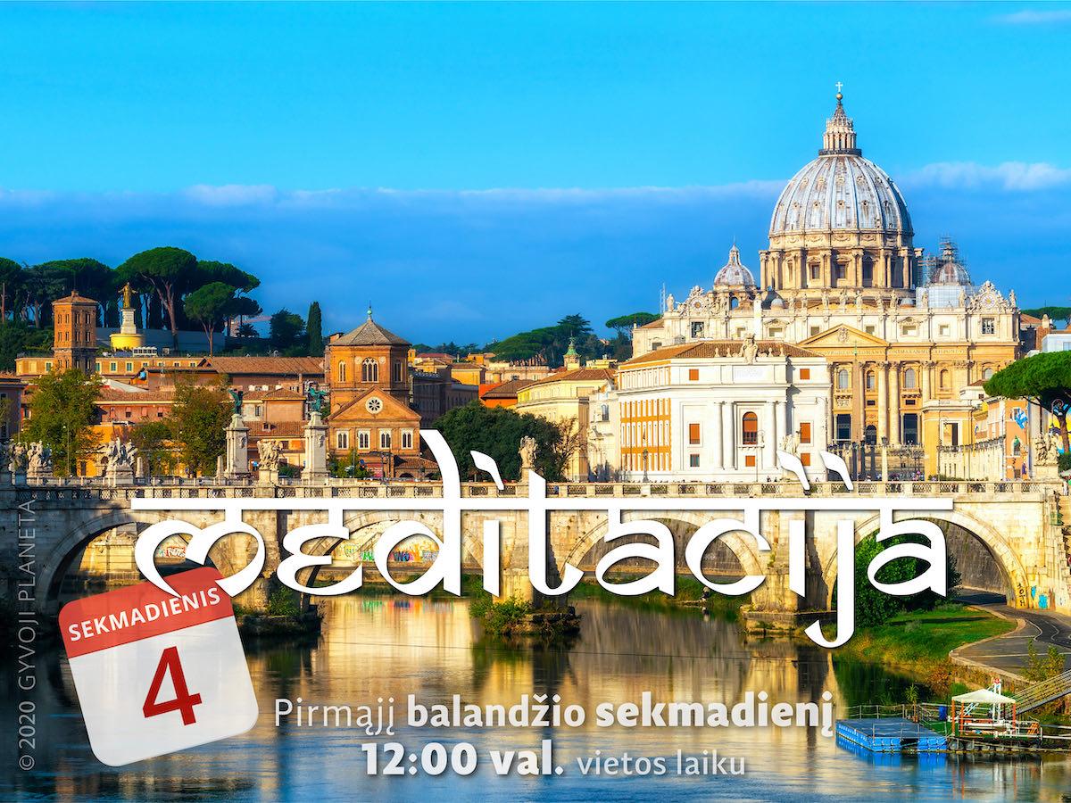 Sekmadienio MEDITACIJA 2021-4-4